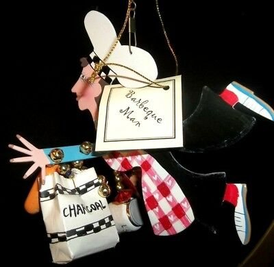 NEW Fanciful Flight BARBECUE MAN GUY PERFECT GIFT Ornament Silvestri GRADUATE - Fanciful Gifts