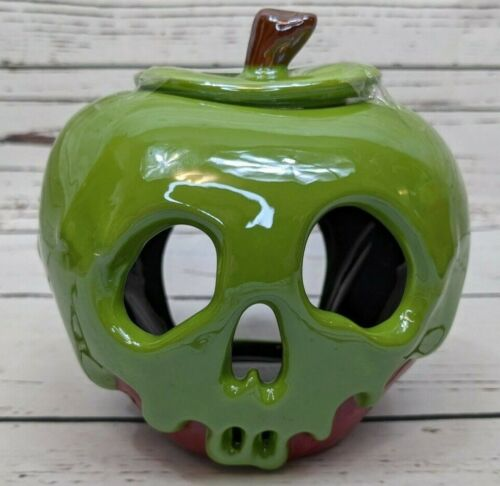 Disney Parks Snow White Evil Queen Just One Bite Poison Apple Candle Holder NEW
