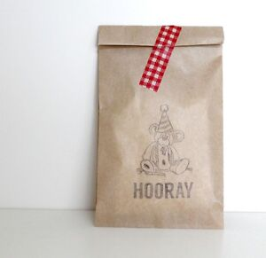 10 x TEDDY BEARS PICNIC Print Paper Party favour bags