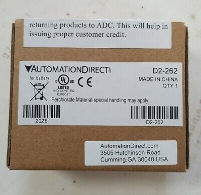 Automation Direct D2-262 D2262 Brand New