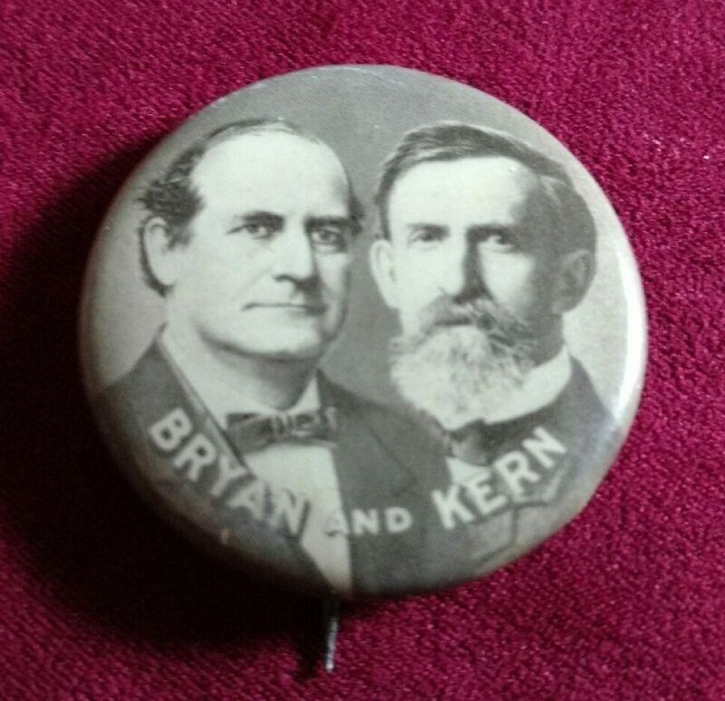 1 1/4 Bryan Kern Political Campaign Pin Jugate by Whitehead & Hoag