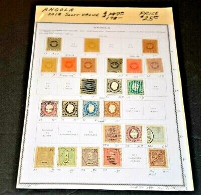 CatalinaStamps: Angola Stamp Collection, 24 Stamps, SCV=$178, Lot #A39