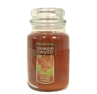 Yankee Candle AUTUMN LEAVES 22 oz Large Jar Fall favorite scent