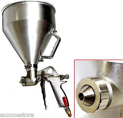 Aluminum Air Hopper Gun Dry Wall Texture Sprayer HD Popcorn Pistol Type +Nozzles