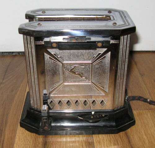 Antique Art Deco 1932 Gazelle Single Toaster Edison GE General Electric 1930s