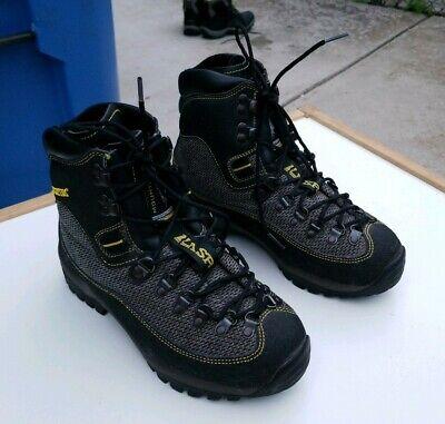 La Sportiva Glacier GTX Mountaineering Boots 38/7.5US Black Grey Yellow NICE! Gtx Mountaineering Boot