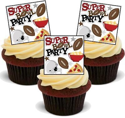 Super Bowl Party Aufsteller Premium Karte Kuchendekoration