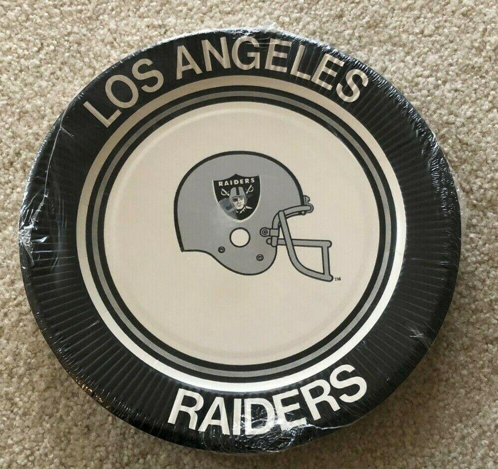 sealed vintage los angeles raiders paper plates