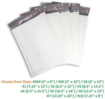 5-3000 Poly Bubble Mailers 000 00 0 Cd 1 2 3 4 5 6 7 Padded Envelope