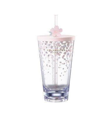 Starbucks Korea 2019 Limited Cherry Blossom Splash Coldcup Tumbler 591ml+Track