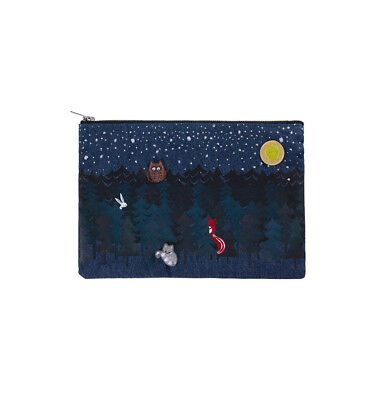 Starbucks Korea 2017 Autumn Limited Woodland denim pouch + Tracking