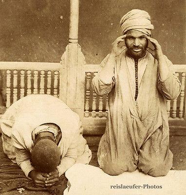 Betende Muslime, Original-Albumin-Photo von ca. 1880