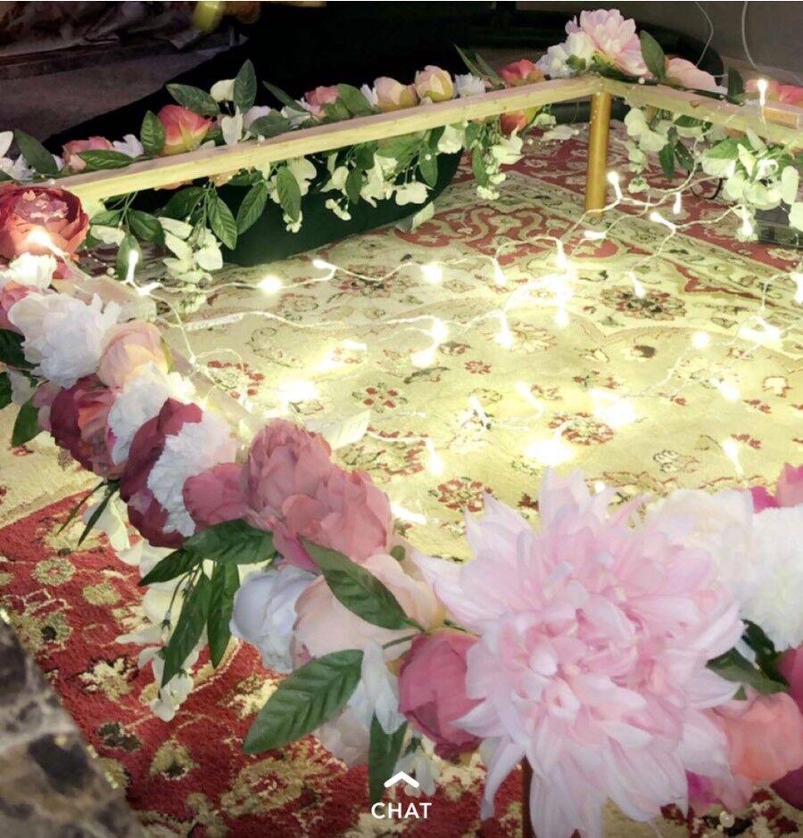 Floral Wedding Engagement Henna Entrance Pakistani Indian Wedding