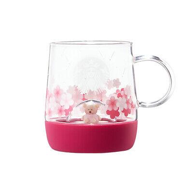 Starbucks Korea 2019 Limited Cherry Blossom LED Bearist Figure Glass 355ml