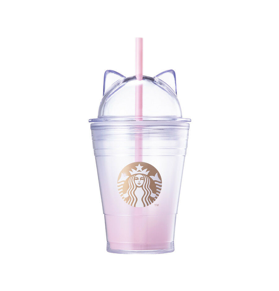 Starbucks Korea 2018 Limited Valentine's Cat Lid ColdCup tumbler 355ml +Tracking