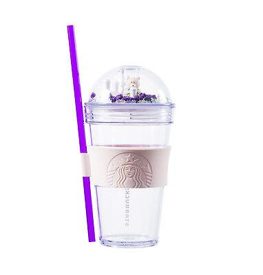 Starbucks Korea 2017 Limited edition Bearist Figure Cold Cup Tumbler 473ml+track