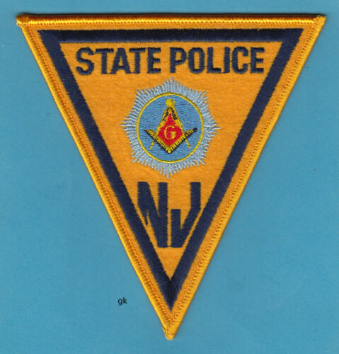 NEW JERSEY STATE POLICE MASON MASONIC SHOULDER PATCH