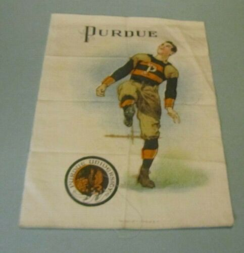 1910 Murad Cigarettes S21 Purdue University Football Player Large Tobacco Silk
