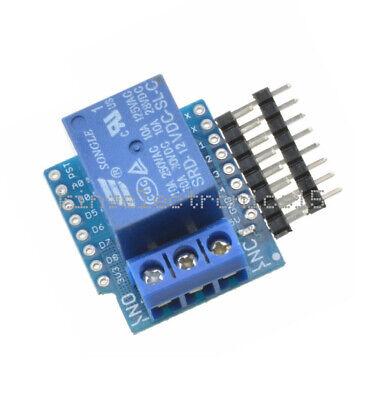 Wemos D1 Mini Esp8266 Wifi Relay 1 Ch 12v Shield Development Board For Arduino