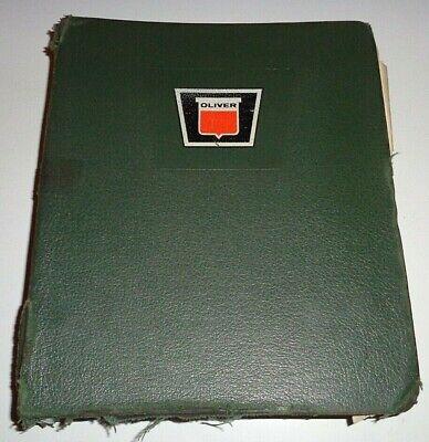 Oliver 1850 1855 Tractor Parts Catalogs Manual Book In Dealers Binder Original
