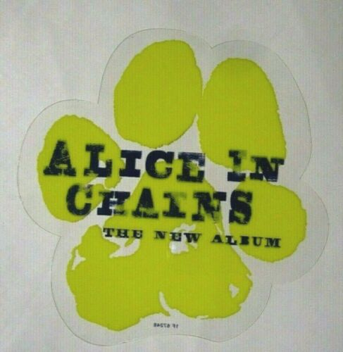 Alice In Chains 1995 Paw Original Promo Static Cling / Sticker ~ The New Album