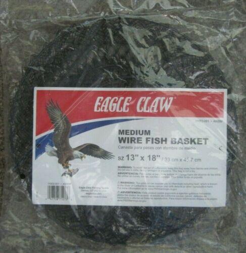 """EAGLE CLAW Medium Wire Fish Basket - 13"""" X 18"""" - Black"""