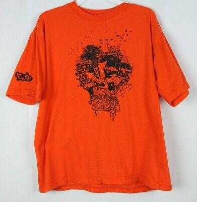 Fluid Tees Graffiti T Shirt Orange Xl  Living Our Roots  Rare Kenyan Brand