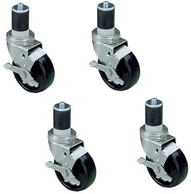 Work Table Stem Caster 4 Wheel Brand New 2 Wheels With Brakes