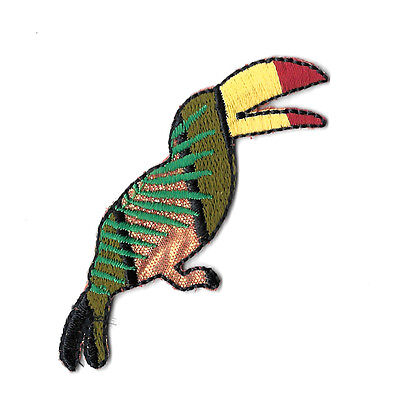 Toucan - Bird - Tropical - Jungle - Embroidered Iron On Applique Patch