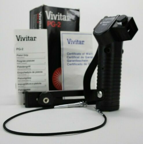 VIVITAR PG-2 KIT WITH PISTOL GRIP, BRACKET, CABLE RELEASE BOXED Made in Japan