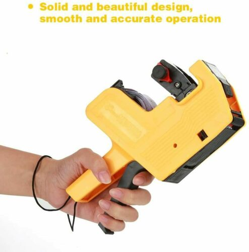 MX-5500 8 Digits Price Pricing Tag Label Gun Labeller Plus Extra Ink (yellow)