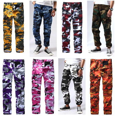 Army Military Pants (Mens Military Army BDU Pants Street Fashion Casual Hiking Work Cargo Pants)