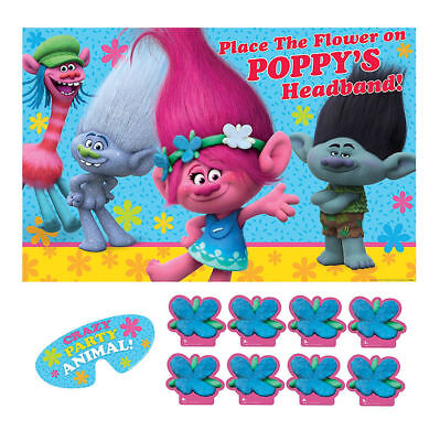 TROLLS POPPY & FRIENDS PARTY GAME POSTER Birthday Supplies Decorations Activity](Birthday Party Activities)