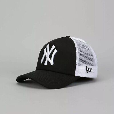 New Era MLB New York Yankees Clean A Frame Trucker Cap Adults - Black/White