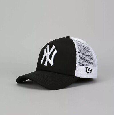New Era MLB New York Yankees Clean A Frame Trucker Cap Adults - Black/White