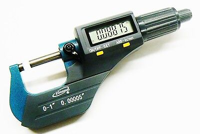 Igaging Micrometer Digital Electronic Outside 0-1 Metric X-large Lcd Carbide