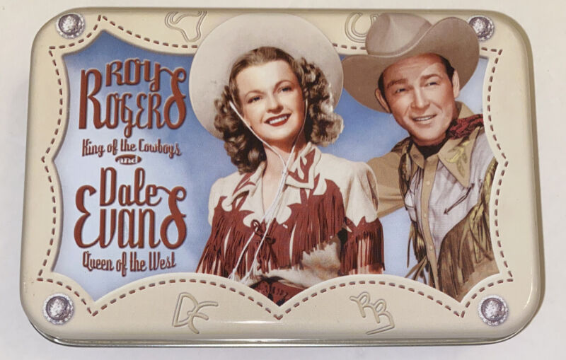 Vintage Roy Rogers & Dale Evans Deluxe Playing Cards with Tin UNUSED