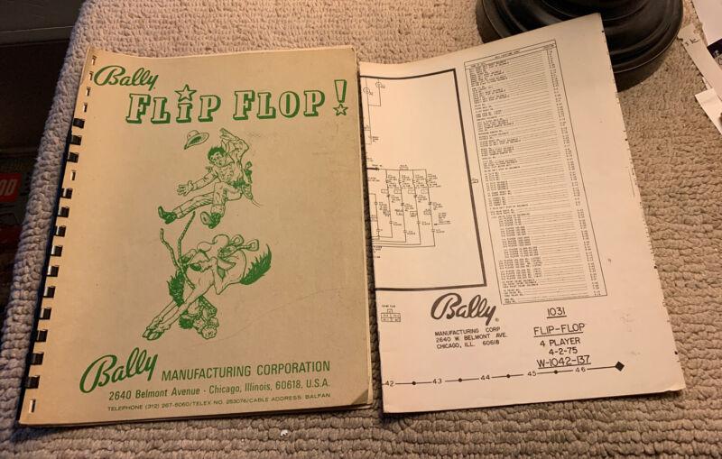 original Flip Flop Set Bally pinball MACHINE manual