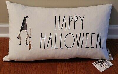 "Rae Dunn Gnome ""HAPPY HALLOWEEN"" Decorative Halloween Throw Pillow HTF NTW"