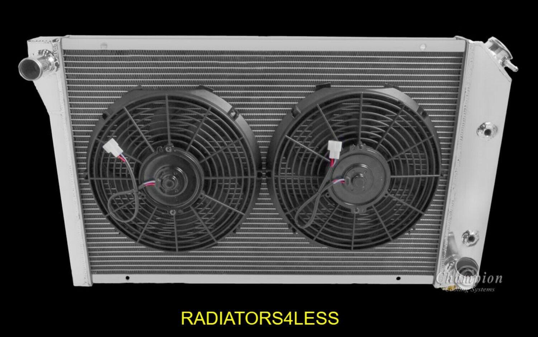 2* FAN 3 CORE ALUMINUM RADIATOR FOR 1977-1982 CHEVY CORVETTE 77 78 79 80 81 82