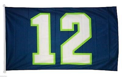 Large 12TH Man Blue Flag 3X5Ft Seattle Seahawks Football Banner Man Cave Dorm - Seahawks Banner