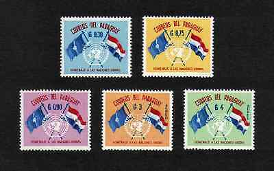 Paraguay 1960 United Nations Day / Flags complete set of 5v. (SG 886-890) MNH
