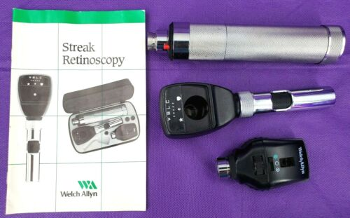 Welch Allyn Retinoscope Ophthalmoscope Handle Diagnostic Set Vet Veterinarian