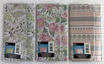 Jot Sticky Notes Lot Of 3 Trifold Folios Memos Notes Flags Fern Floral Textile