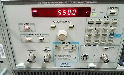 Tektronix Sg5030 Programmable Leveled Sine Wave Generator 0.1 Hz To 550 Mhz