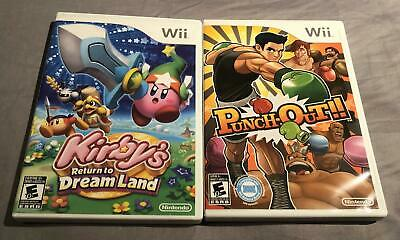 Punch-Out!! and Kirby's Return to Dream Land Bundle (Nintendo Wii) Complete!