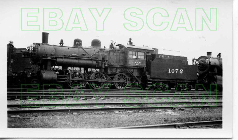 8E383 RP 1930s/40s CHICAGO & NORTH WESTERN RAILROAD 4-6-0 LOCO #1072