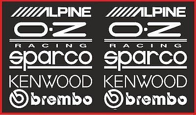 10 X RACING STICKERS Funny Car Window Bumper Vinyl Sticker JDM Sponsor Decals