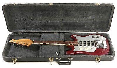 Vintage Tiesco Del Rey ET-440 Electric Guitar Made in Japan W/ Hardshell Case