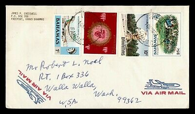 DR WHO 1968 BAHAMAS FREEPORT AIRMAIL TO USA  g19954